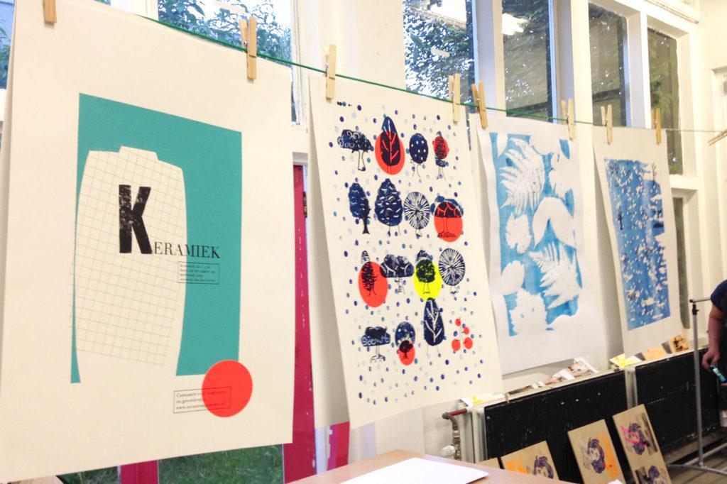 Poster ontwerpen en zeefdrukken