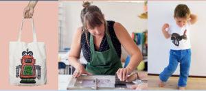Zeefdrukken op textiel, workshop, cursus, grafisch, ambacht, het grafisch ambacht, Noordzeestudio