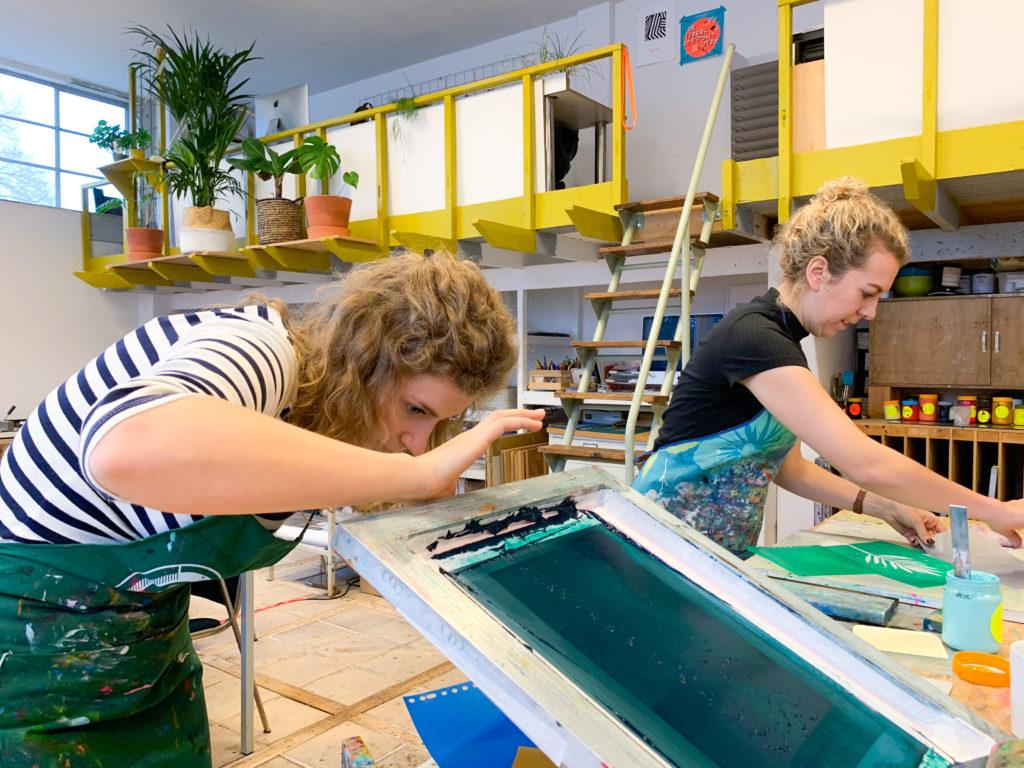 zeefdrukken, cursus, workshop
